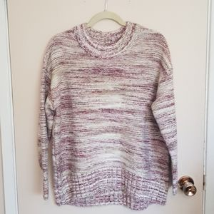 Old navy purple and green space dye knit sweater